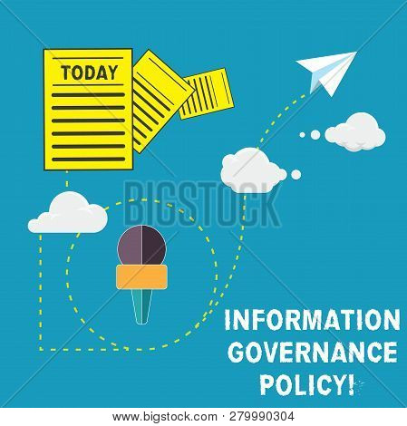 Handwriting Text Information Governance Policy. Concept Meaning Standards Or Metrics In Handling Inf