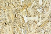 OSB material texture - recycled compressed wood shavings plate, plywood texture. poster