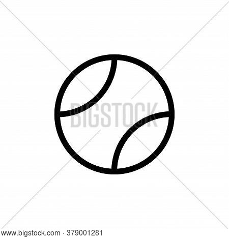 Illustration Vector Graphic Of Tennis Ball Icon