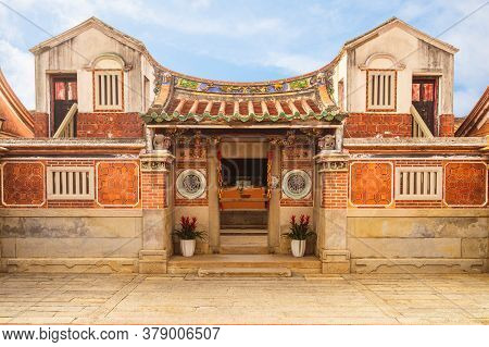 Haizhu Hall Of Shanhou Folk Culture Village In Kinmen. Haizhu Means Ocean And Pearl. Translation Of