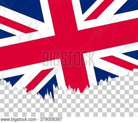 Grunge-style Flag Of United Kingdom On A Transparent Background. Vector Textured Flag Of United King