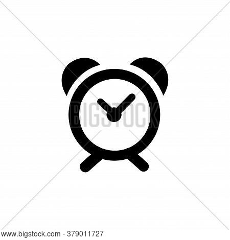 Clock icon isolated on white background. Clock icon in trendy design style. Clock vector icon modern and simple flat symbol for web site, mobile, logo, app, UI. Clock icon vector illustration, EPS10.
