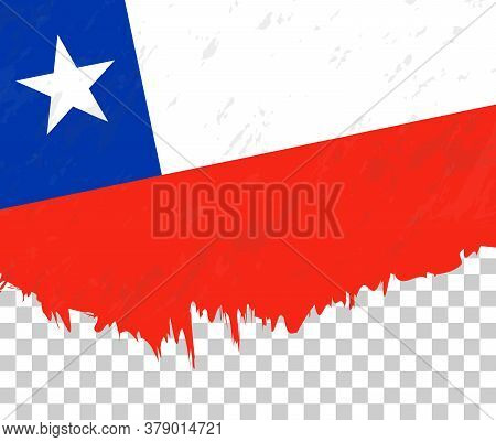 Grunge-style Flag Of Chile On A Transparent Background. Vector Textured Flag Of Chile For Vertical D