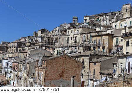 Sant'agata Di Puglia - 29 July 2020: The Town In The Daunia Mountains In The Province Of Foggia Whic
