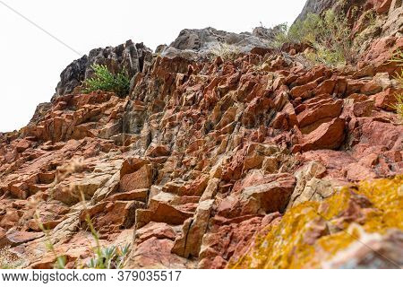 Red Rock Formation Along The Trail To Rheingrafenstein, Germany
