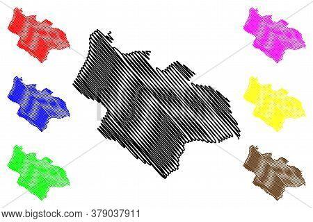 Savnik Municipality (montenegro, Municipalities Of Montenegro) Map Vector Illustration, Scribble Ske
