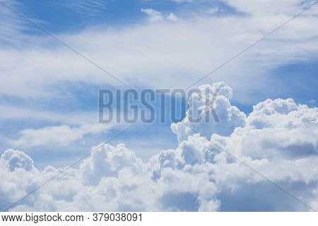 Vast Blue Sky And White Cloud Background