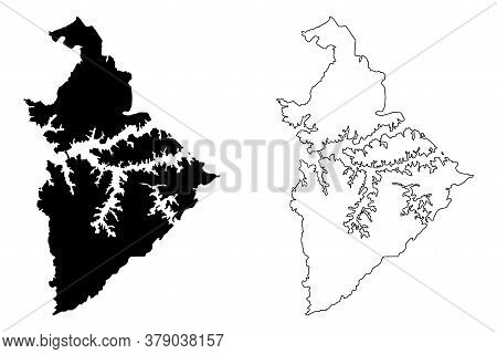 Sao Bernardo Do Campo City (federative Republic Of Brazil, Sao Paulo State) Map Vector Illustration,