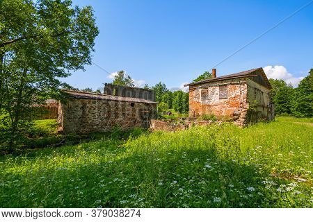 View Of An Old Abandoned Water Mill