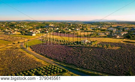 The Village Of Valensole In The Provence From Above - Travel Photography