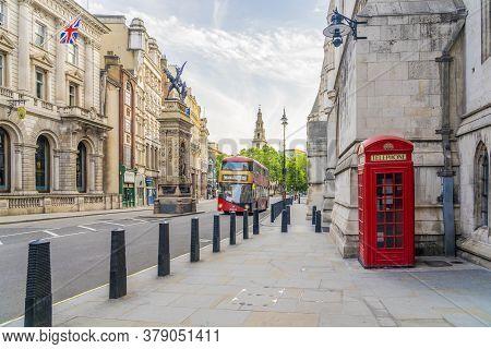 June 2020. London.call Box On Fleet Street N Holborn, London, Uk, Europe