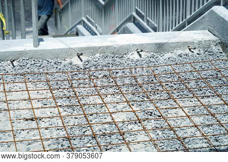 Close Up On Iron Casting Lattice For Road Construction