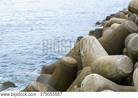 Tetrapods Breakwater, A Type Of Structure In Coastal Engineering Used To Prevent Erosion Caused By S