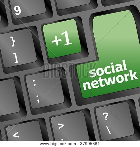 Social Network Keyboard With Only One Key