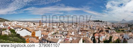 Panoramic View To Old Village Of Antequera In Andalusia, Spain