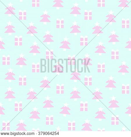 Christmas Icy Blue Holiday Seamless Pattern Background