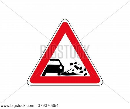 Ejection Of Gravel Icon. Flat Illustration Of Ejection Of Gravel Vector Icon For Web.