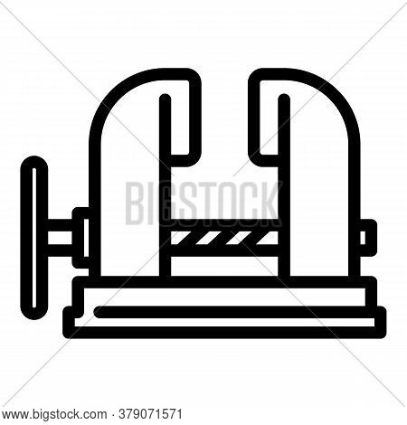 Blacksmith Metal Vise Icon. Outline Blacksmith Metal Vise Vector Icon For Web Design Isolated On Whi