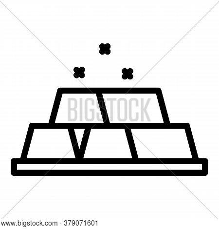 Blacksmith Gold Bars Icon. Outline Blacksmith Gold Bars Vector Icon For Web Design Isolated On White