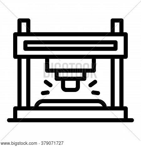 Blacksmith Metal Press Icon. Outline Blacksmith Metal Press Vector Icon For Web Design Isolated On W