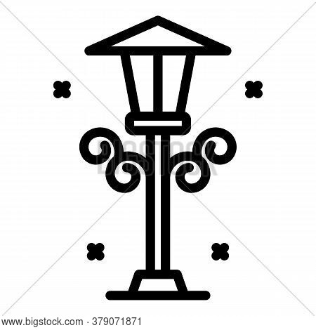 Street Light Pillar Icon. Outline Street Light Pillar Vector Icon For Web Design Isolated On White B