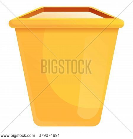 Farm Food Container Icon. Cartoon Of Farm Food Container Vector Icon For Web Design Isolated On Whit