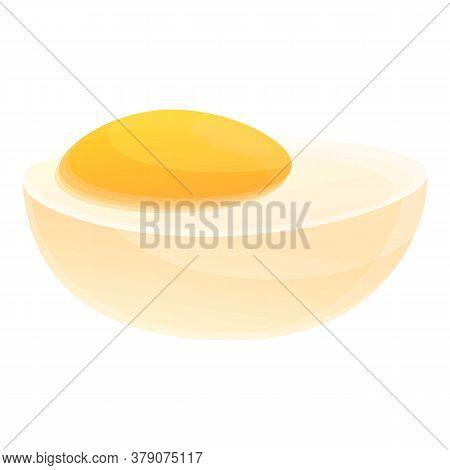 Farm Boiled Egg Icon. Cartoon Of Farm Boiled Egg Vector Icon For Web Design Isolated On White Backgr