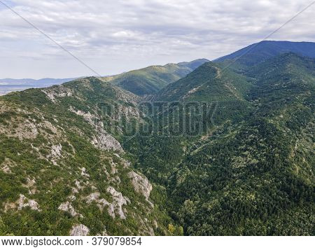 Aerial View Of Rhodope Mountains Near Town Of Asenovgrad, Plovdiv Region, Bulgaria