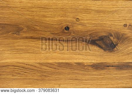Natural Texture Of Oak. Oak With Wood Inserts Instead Of Knots. Top View