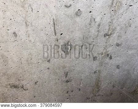 Gray Concrete Background With Texture. Close Up
