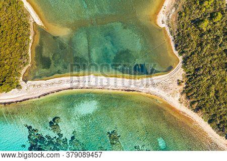 Exotic Beaches, Islands With Natural Bridge In Turquoise Sea On The Island Of Dugi Otok In Croatia,