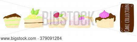 Cake Vector Chocolate Confectionery Cupcake And Sweet Confection Dessert With Whipped Cream, Berries