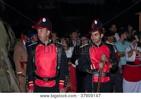 Soldiers Posing