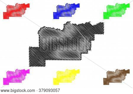 Clark County, Idaho (u.s. County, United States Of America, Usa, U.s., Us) Map Vector Illustration,