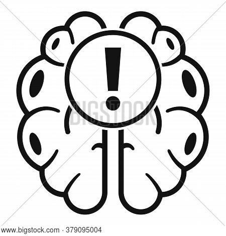 Brain Find New Innovation Icon. Simple Illustration Of Brain Find New Innovation Vector Icon For Web