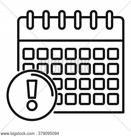Calendar Date Innovation Icon. Outline Calendar Date Innovation Vector Icon For Web Design Isolated