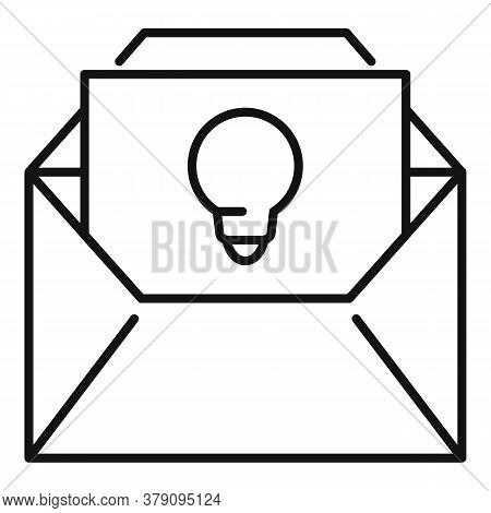 New Mail Innovation Icon. Outline New Mail Innovation Vector Icon For Web Design Isolated On White B