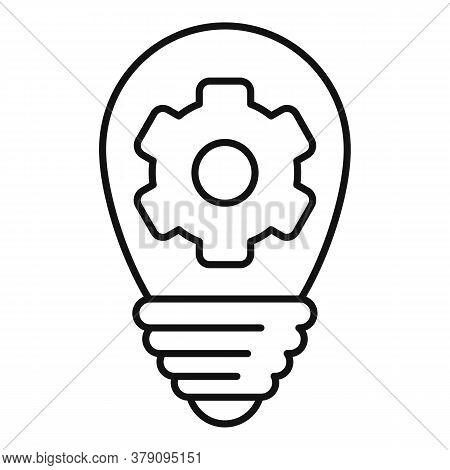 Innovation Bulb Idea Icon. Outline Innovation Bulb Idea Vector Icon For Web Design Isolated On White