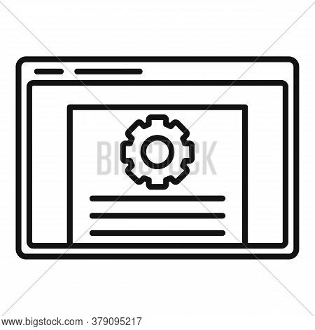 Web Page Innovation Icon. Outline Web Page Innovation Vector Icon For Web Design Isolated On White B