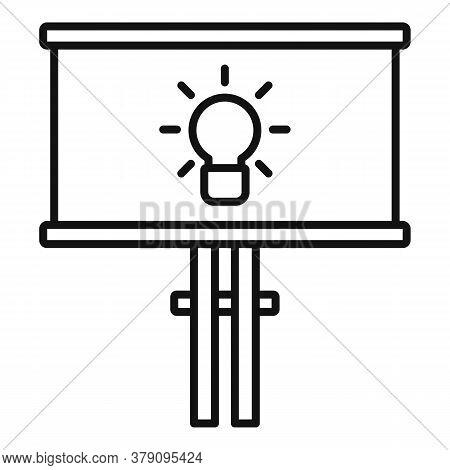Street Billboard Innovation Icon. Outline Street Billboard Innovation Vector Icon For Web Design Iso