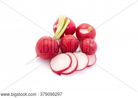 Radishes Isolated On White Background Cut Out