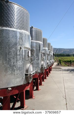 Metal Wine Vats