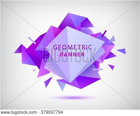 Vector Abstract Geometric 3d Facet Shape. Use For Banners, Web, Brochure, Ad, Poster, Etc. Low Poly