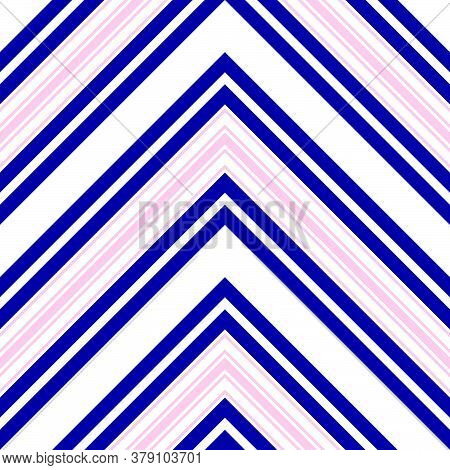 Pink And Navy Chevron Diagonal Stripes Seamless Pattern Background