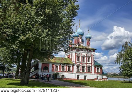 Uglich, Russia, - 26 July 2020, Church Of Tsarevich Demetrius On The Blood. This Kremlin Cathedral A