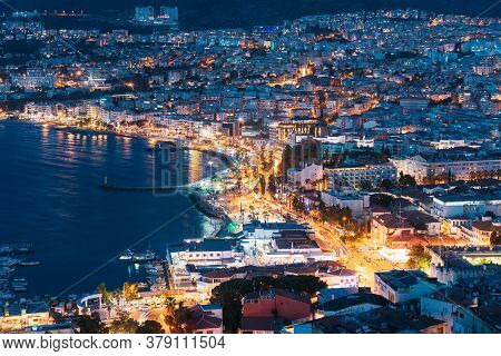 Kusadasi, Aydin Province, Turkey - September 10, 2019: Waterfront And Kusadasi Cityscape In Summer E