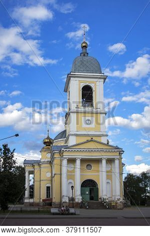 Myshkin, Russia - 26 July 2020, Assumption Cathedral (uspensky Cathedral, Early 19th Century).