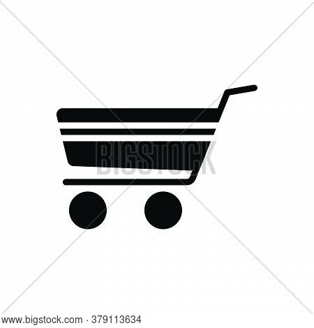 Black Solid Icon For Shopping-cart Commerce Purchase Shopping Basket Cart Commerce Supermarket Troll