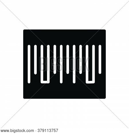 Black Solid Icon For Barcode Scan Scanner Label Identification Technology Sticker Digital