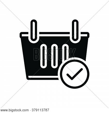 Black Solid Icon For Checkout Shopping-basket Shopping Basket Cart Commerce Supermarket Trolley Groc